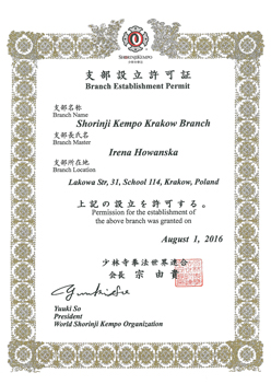 Branch Establishment Permit
